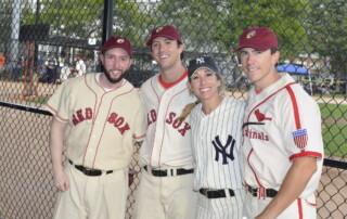 Oldtime Baseball Game players