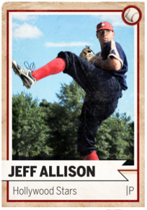 oldtime baseball game card pitcher