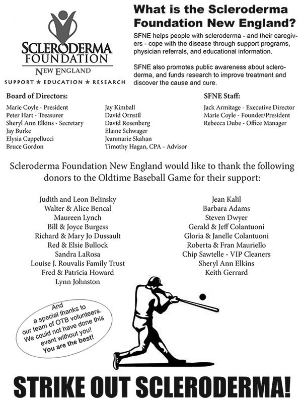 oldtime baseball game scleroderma new england